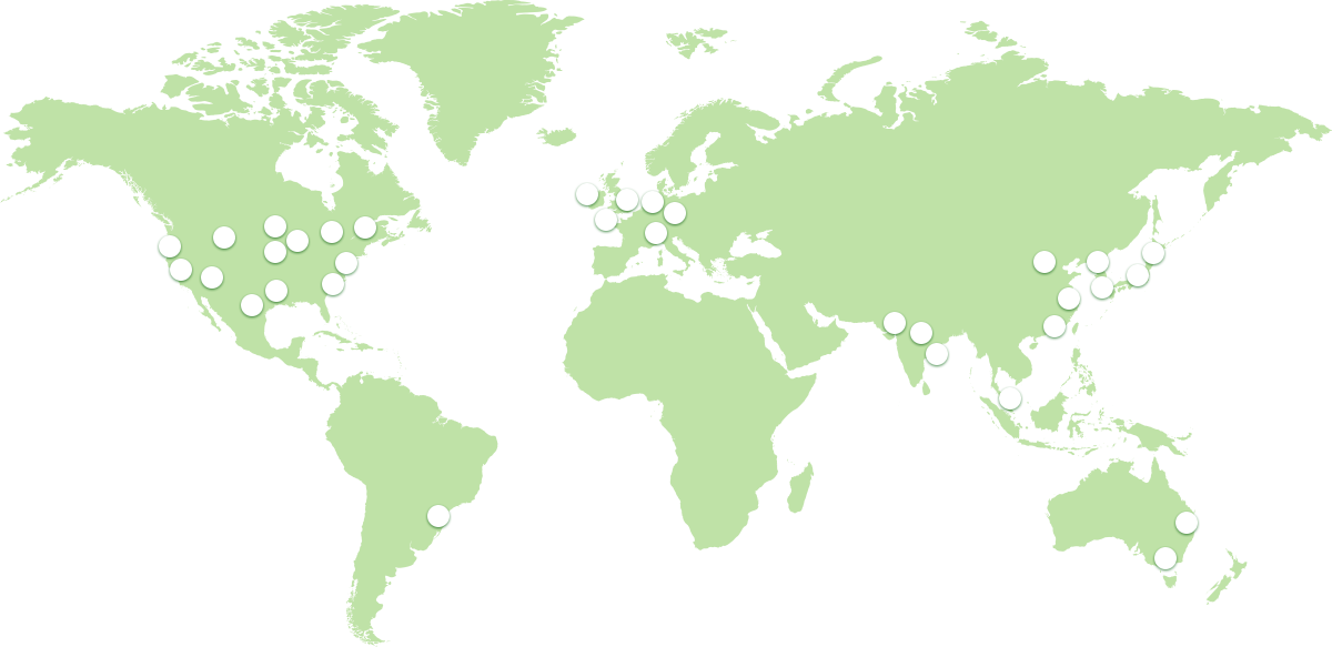 ScaleGrid Redis hosting on Azure worldwide map of all 14 supported global datacenter regions